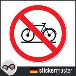 das Abstellen von Fahrrädern ist verboten