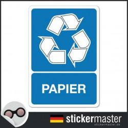 Recyclingpapier Aufkleber