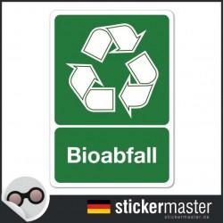 Bioabfall Aufkleber