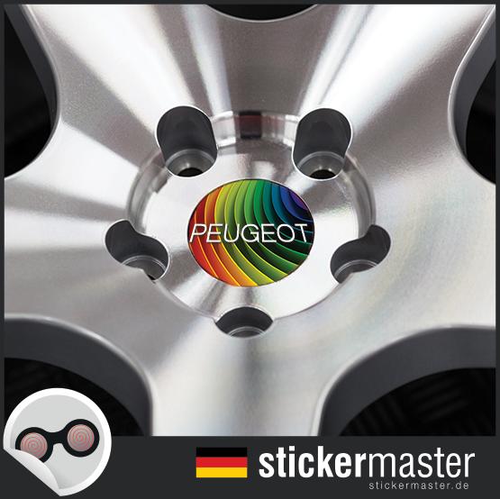 Nabendeckel Aufkleber Peugeot 208 Stickermaster