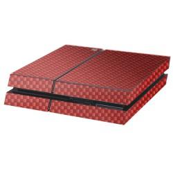 PS4 Aufkleber Carbon-Rot