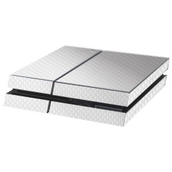 PS4 Aufkleber Carbon-Weiß