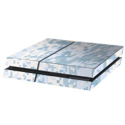 PS4 Aufkleber Digitale Tarnung Snow