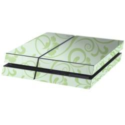 PS4 Aufkleber Floral Grün