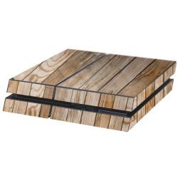 PS4 Aufkleber Holzbohlen