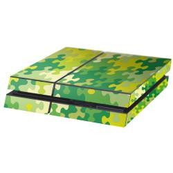 PS4 Aufkleber Puzzle Grün