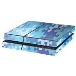 PS4 Aufkleber Puzzle Blau
