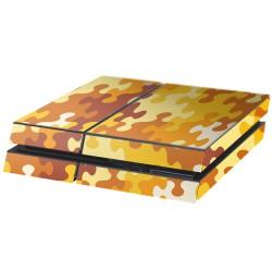 PS4 Aufkleber Puzzle Orange