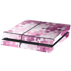 PS4 Aufkleber Puzzle Rosa