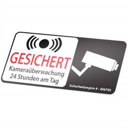 Kamera Aufkleber 24 Stunden Kameraüberwachung