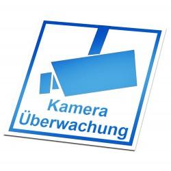 Kameraüberwachung Aufkleber Blau
