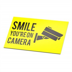 Smile You're On Camera Gelb Aufkleber