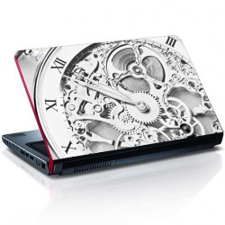 Uhr Laptop Aufkleber