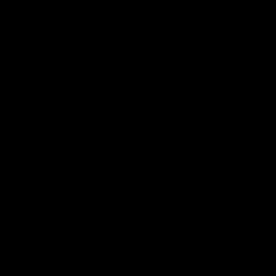 Ziffer 0 Back to Black Zahlenaufkleber