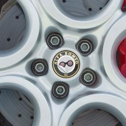 Nabendeckel Aufkleber Alfa Romeo 4C