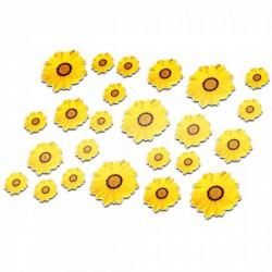 Fahrrad aufkleber Sonnenblumen 3