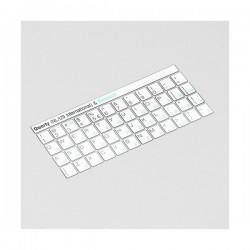 Russisch Weiß Tastatur Aufkleber