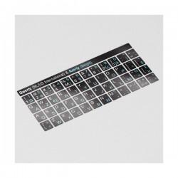 Schwarze QWERTY & AZERTY Tastatur Aufkleber