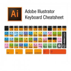 Illustrator Editor Tastaturaufkleber Schwarz
