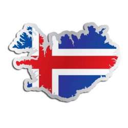Länderaufkleber Island