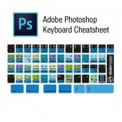 Photoshop Editor Tastaturaufkleber Schwarz