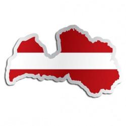 Länderaufkleber Lettland