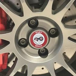Nabendeckel Aufkleber geeignet für Fiat Brava