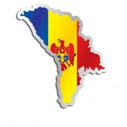Länderaufkleber Moldawien
