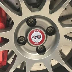 Nabendeckel Aufkleber geeignet für Fiat Uno