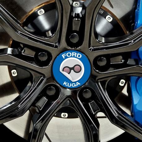 Nabendeckel Aufkleber geeignet für Ford Kuga