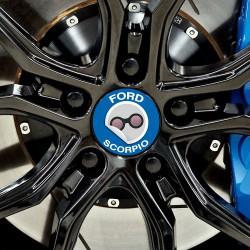 Nabendeckel Aufkleber Ford Scorpio