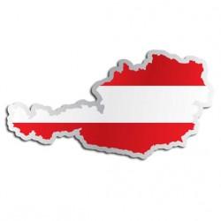 Länderaufkleber Österreich