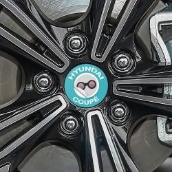 Nabendeckel Aufkleber Hyundai Coupé