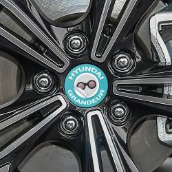Nabendeckel Aufkleber Hyundai Grandeur