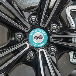 Nabendeckel Aufkleber Hyundai Tucson