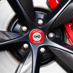 Nabendeckel Aufkleber geeignet für Jaguar X-Type