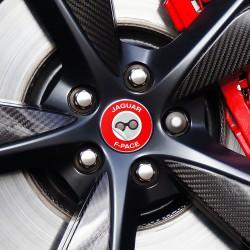 Nabendeckel Aufkleber geeignet für Jaguar F-Pace