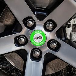 Nabendeckel Aufkleber geeignet für Jeep Compass