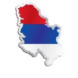Länderaufkleber Serbe