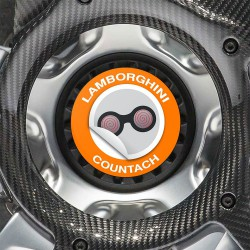 Nabendeckel Aufkleber Lamborghini Countach