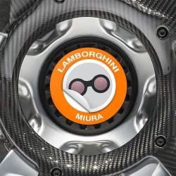 Nabendeckel Aufkleber Lamborghini Miura