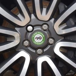 Nabendeckel Aufkleber geeignet für Land Rover Defender
