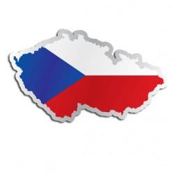 Länderaufkleber Die Tschechische Republik