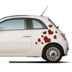 Herzen Autoaufkleber