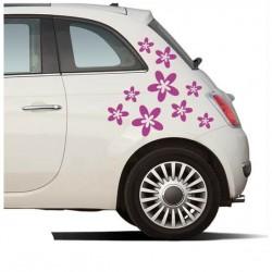 Fröhlich Blumen Autoaufkleber