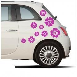 Blumen Mix Autoaufkleber