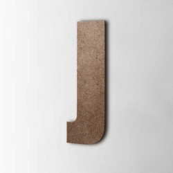 Holzbuchstabe J Impact MDF Braun