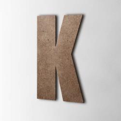 Holzbuchstabe K Impact MDF Braun