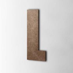 Holzbuchstabe L Impact MDF Braun