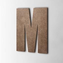 Holzbuchstabe M Impact MDF Braun